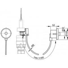 Alcaplast Oddálené pneumatické splachování ruční do zdi bílé (MPO10)