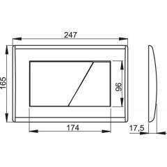 Alcaplast ovládací deska M170 bílá M170