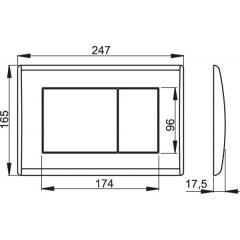 Alcaplast ovládací deska M271 chrom-lesklá (M271)