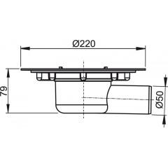 ALCAPLAST Podlahová vpust 50 boční (tělo) APV1000 (APV1000)
