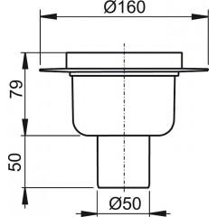 Alcaplast Podlahová vpust 50 přímá tělo (APV6000)
