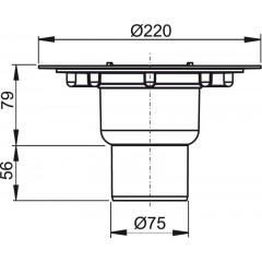 Alcaplast Podlahová vpust 50/75 přímá tělo (APV2000)