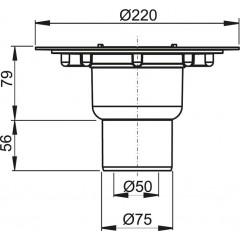 Alcaplast Podlahová vpust 50/75 přímá tělo APV2000
