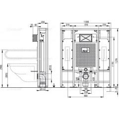 Alcaplast Solomodul předstěnový systém pro suchou instalaci, do prostoru (A116/1300H)