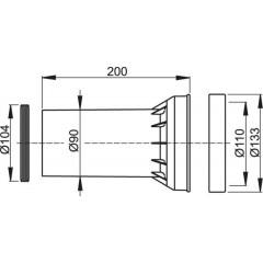 Alcaplast Těsnění odpadu + propojka A100 + těsnění propojky (M902)