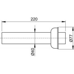 Alcaplast Trubka s rozetou DN40 (P046)