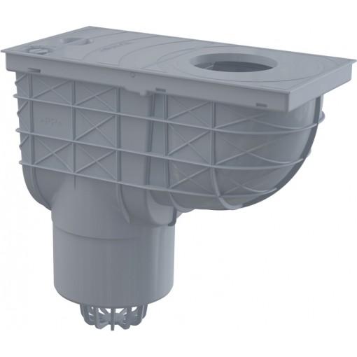 ALCAPLAST Okapová vpusť 80-125 ,125 šedá spodní AGV2S (AGV2S)