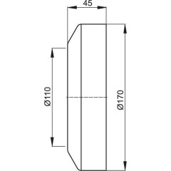 Alcaplast WC rozeta malá DN110 krycí růžice bílá 110x170x45 (A98)