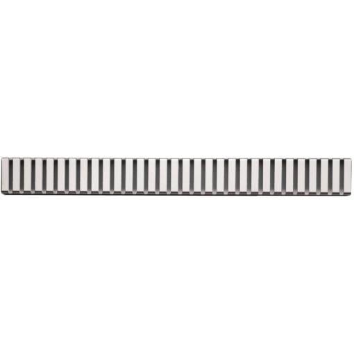 Alcaplast LINE-100L rošt podlahového žlabu lesklý 10cm doplněk roštu APZ1 LINE-100L