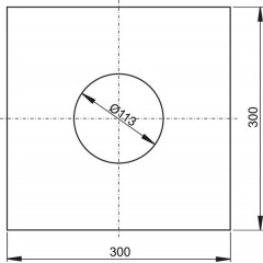 Hydroizolační samolepicí límec podlahové vpusti 300x300 ALCAPLAST AIZ1 (AIZ1)