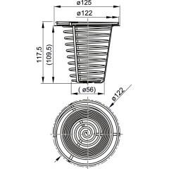 Okap. koš do okapové vpusti nerezový ALCAPLAST AGV941 (AGV941)