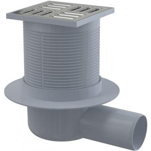 Podl. vpusť 105x105/50 boční nerez s kombi. zápach. uzávěrou SMART ALCAPLAST APV31 (APV31)