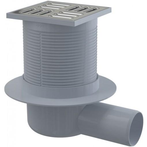 Alcaplast Podlahová vpusť 105x105/50 boční nerez vodní zápach.uzávěra (APV1)