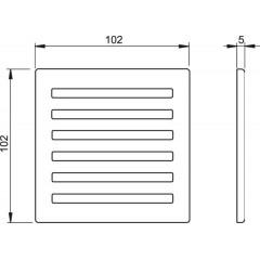 Podl.vpusť-ND Designová mřížka 102x102x4 nerez ALCAPLAST MPV003 (MPV003)
