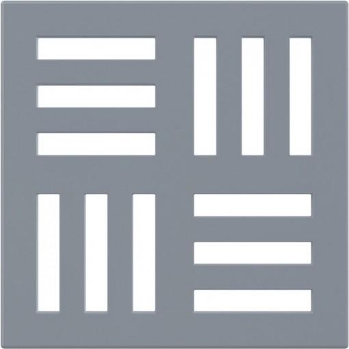 Podl.vpusť-ND mřížka 102x102x5 šedá ALCAPLAST MPV006 (MPV006)