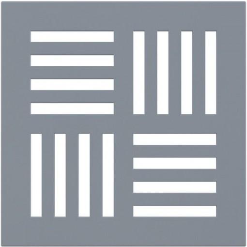 Podl.vpusť-ND mřížka 143x143x5 šedá ALCAPLAST MPV007 (MPV007)