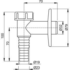 Sifon pračkový - na zeď bílý ALCAPLAST plast APS2 (APS2)
