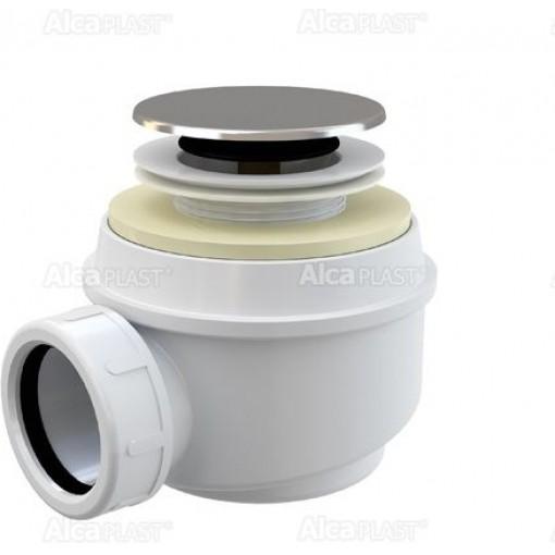 Alcaplast sifon pro sprchové vaničky 50mm chrom A466-50 click/clack (výška 72mm) (A466-50)