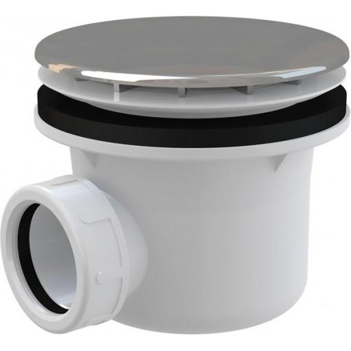 Sifon sprch 90 chrom A49CR ALCAPLAST Plast (chrom / plastové víčko) A49CR (A49CR)