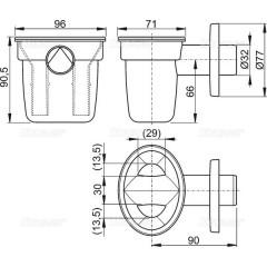 Sifonová nálevka pro odkapávající kondenzát DN32mm ALCAPLAST AKS1 (AKS1)