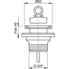 """Sifonová vpusť 5/4""""x63mm nerez vršek ALCAPLAST plast A31 (A31)"""