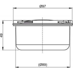 Vodní zápachová uzávěra (pro APV26) ALCAPLAST APV0050 (APV0050)