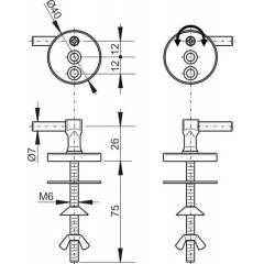 WC sed. sada pantů+šroubů (kov)Z0127 pro A62 ALCAPLAST Z0127 Z0127