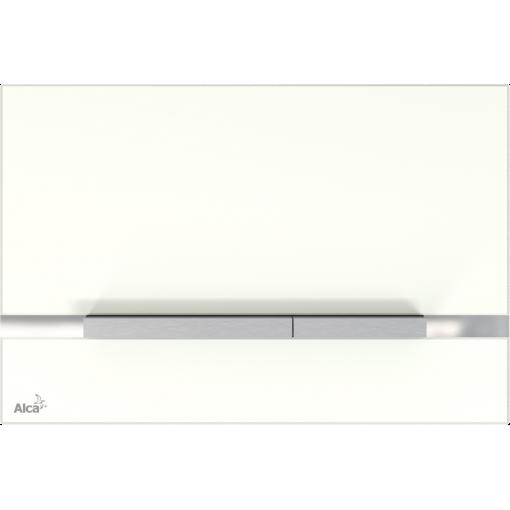ALCAPLAST STRIPE sklo-bílá, ovládací deska tlačítko, pro předstěnové instalační systémy STRIPE-GL1200 (STRIPE-GL1200)