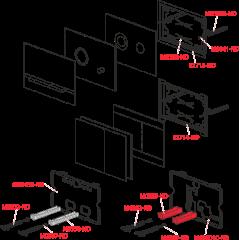Alcaplast STRIPE sklo-bílá, ovládací deska tlačítko, pro předstěnové instalační systémy (STRIPE-GL1200)