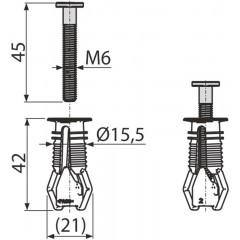 ALCAPLAST Hmoždinka pro vrchní montáž sedátka, pro panty P106, P106B P113 (pár) (P113)