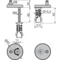 Alcaplast Panty s vrchní montáží, krytka nerez (P105)