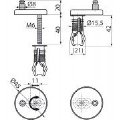 Alcaplast Panty s vrchní montáží, krytka plast (P105B)