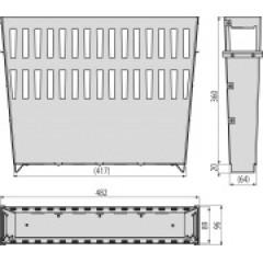 Alcaplast Koš na nečistoty velký pozink, pro venkovní žlabovou vpust (AVZ-P013)