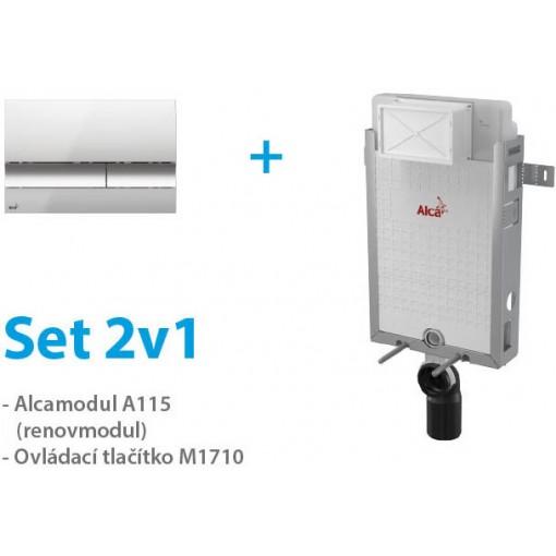 Set ALCAPLAST 2v1 AM115/1000,M1721, Renovmodul A115CRSET2V1 (A115CRSET2V1)