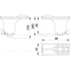 Alcaplast Sada kombinovaných zápachových uzávěr pro nerezové žlaby Alcaplast P095 (P095)