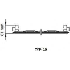 Kermi radiátor Profil bílá K10 900 x 900 Levý / Pravý (FK0100909)