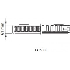 Kermi radiátor Profil bílá K11 900 x 1100 Levý / Pravý (FK0110911)