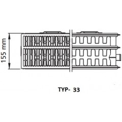 Kermi radiátor Profil bílá K33 500 x 2000 Levý / Pravý (FK0330520)