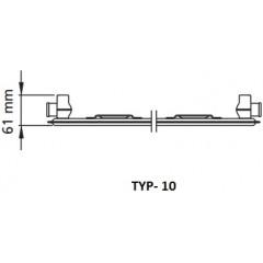 Kermi radiátor Profil bílá V10 300 x 1100 Pravý (FTV100301101R1K)