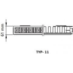 Kermi radiátor Profil bílá V11 600 x 1100 Pravý (FTV110601101R1K)
