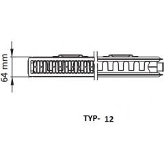 Kermi radiátor Profil bílá V12 400 x 1200 Pravý (FTV120401201R1K)