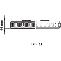 Kermi radiátor Profil bílá V12 600 x 1400 Pravý (FTV120601401R1K)