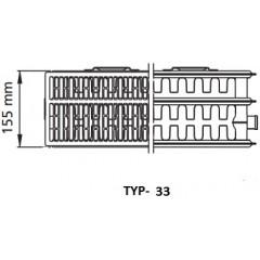 Kermi radiátor Profil bílá V33 750 x 1600 Pravý (FTV330751601R1K)