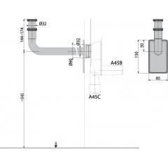 "Alcaplast Koleno DN32 5/4"" matice, kovové A438 (A438)"