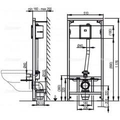 Alcaplast Montážní rám pro závěsné WC a senzor (A114S/1200)