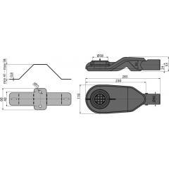 ALCAPLAST - ALCA-APZ-S6 sifon extra nízky pro žlab APZ13 Modular, otočný, DN40, pr.40l/min, výška od 54mm (APZ-S6)