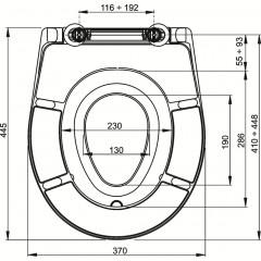 WC sedátko A606 s odnímatelnou dětskou vložkou, SOFTCLOSE ALCAPLAST (náhrada za A69) A606 (A606)
