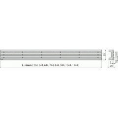 ALCAPLAST - ALCA GAP-1050M rošt pro APZ6, 106, 1006, 1106 (GAP-1050M)