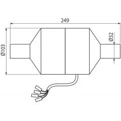 ALCAPLAST Ventilátor pro předstěnové instalační systémy s odvětráváním pr.32 - pro připojení k modulu Alca P128 (P128)