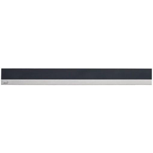 ALCAPLAST MINERAL POSH - Rošt pro liniový podlahový žlab (syntetický kámen černý  nerez mat) MP1205-850 (MP1205-850)